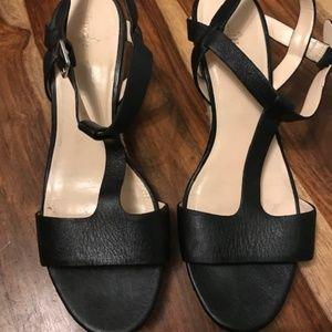 Black Cole Haan Heeled Sandals
